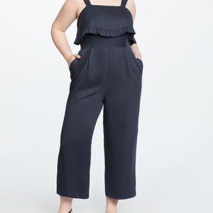 NWT ELOQUII Size 20 dark Navy ruffle jumper